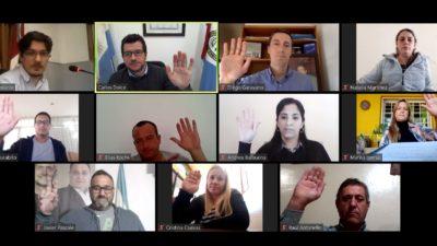 El Concejo Deliberante de Villa Gobernador Gálvez sesionó de forma virtual para aprobar iniciativas vinculadas a la lucha contra el Corona Virus.